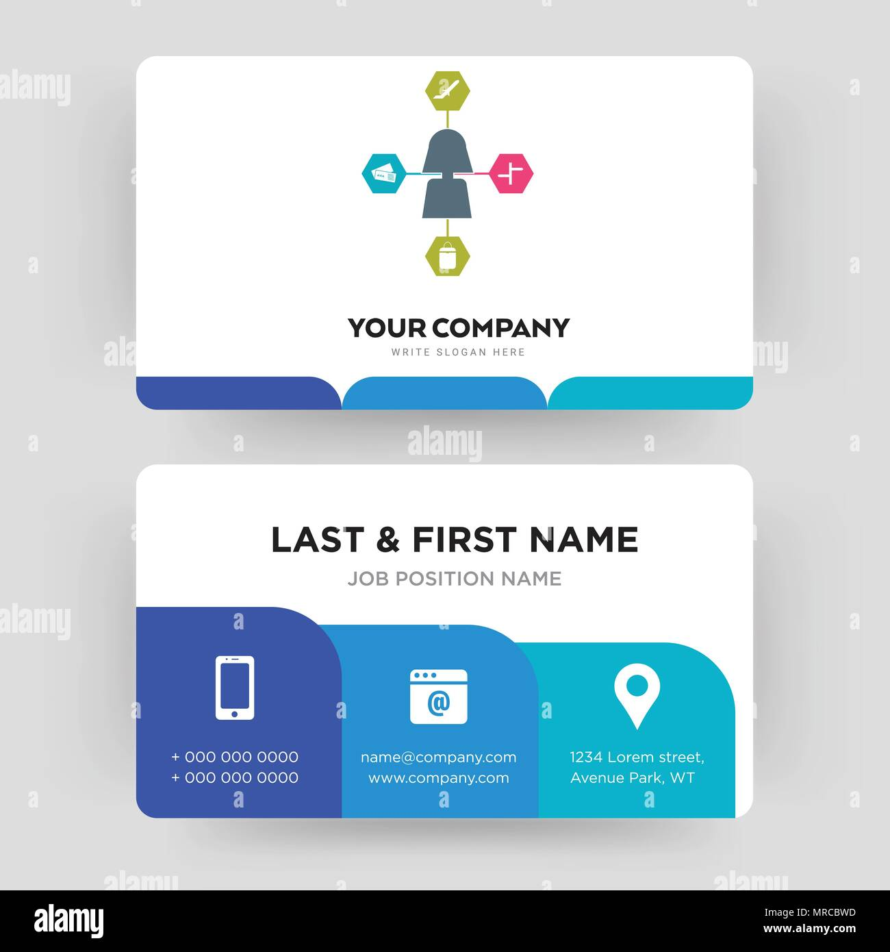 travel agent, business card design template, Visiting for your ...