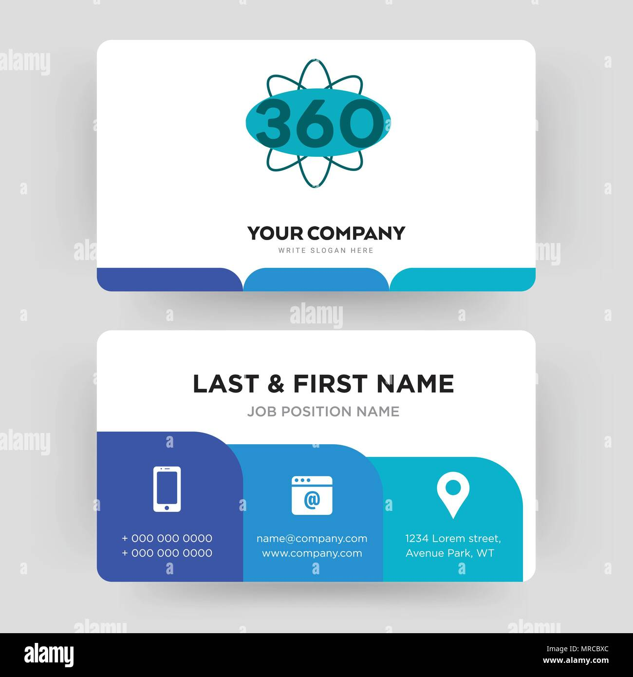 360 degree business card design template visiting for your company 360 degree business card design template visiting for your company modern creative and clean identity card vector colourmoves