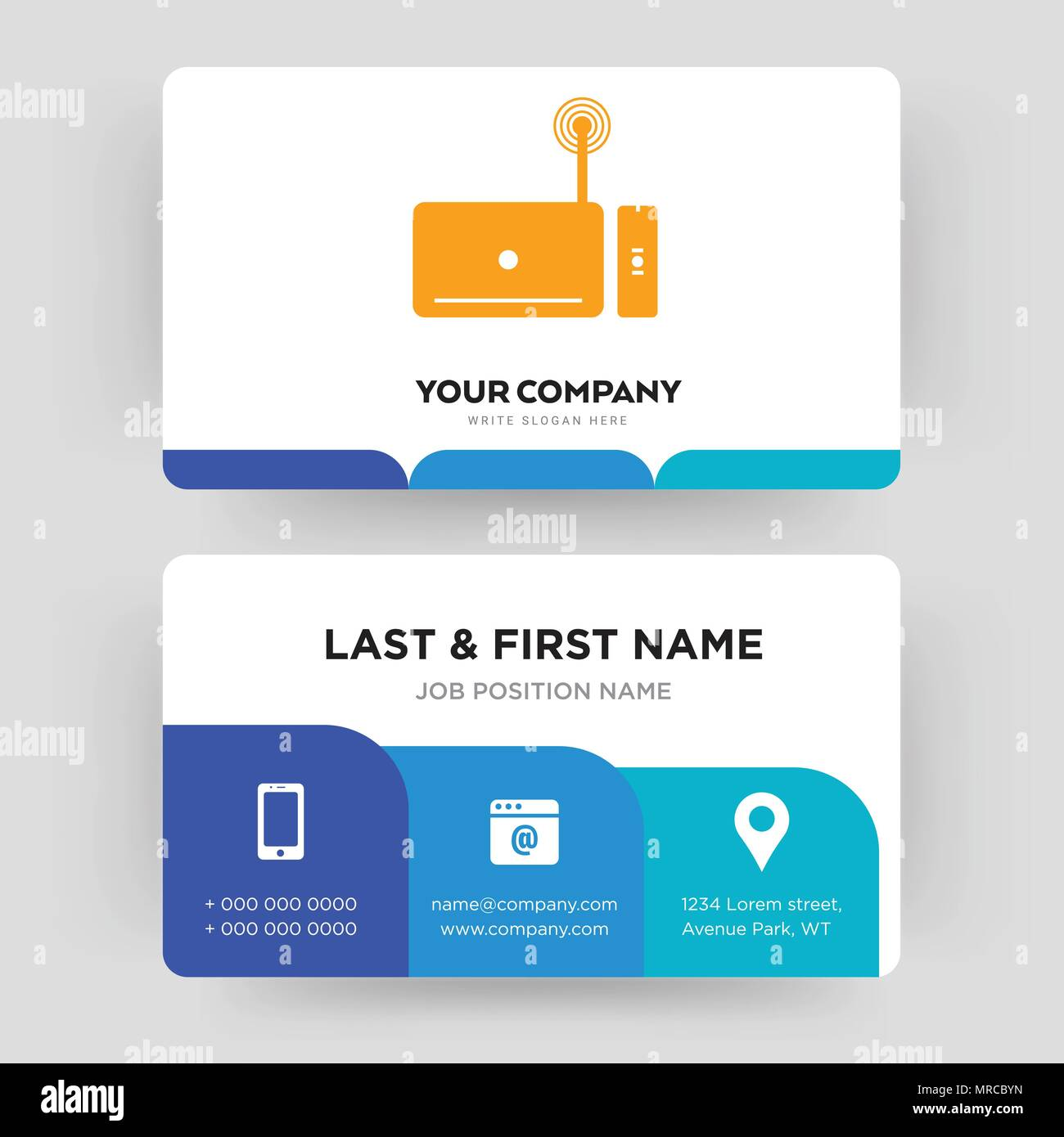 Set top box business card design template visiting for your set top box business card design template visiting for your company modern creative and clean identity card vector reheart Image collections