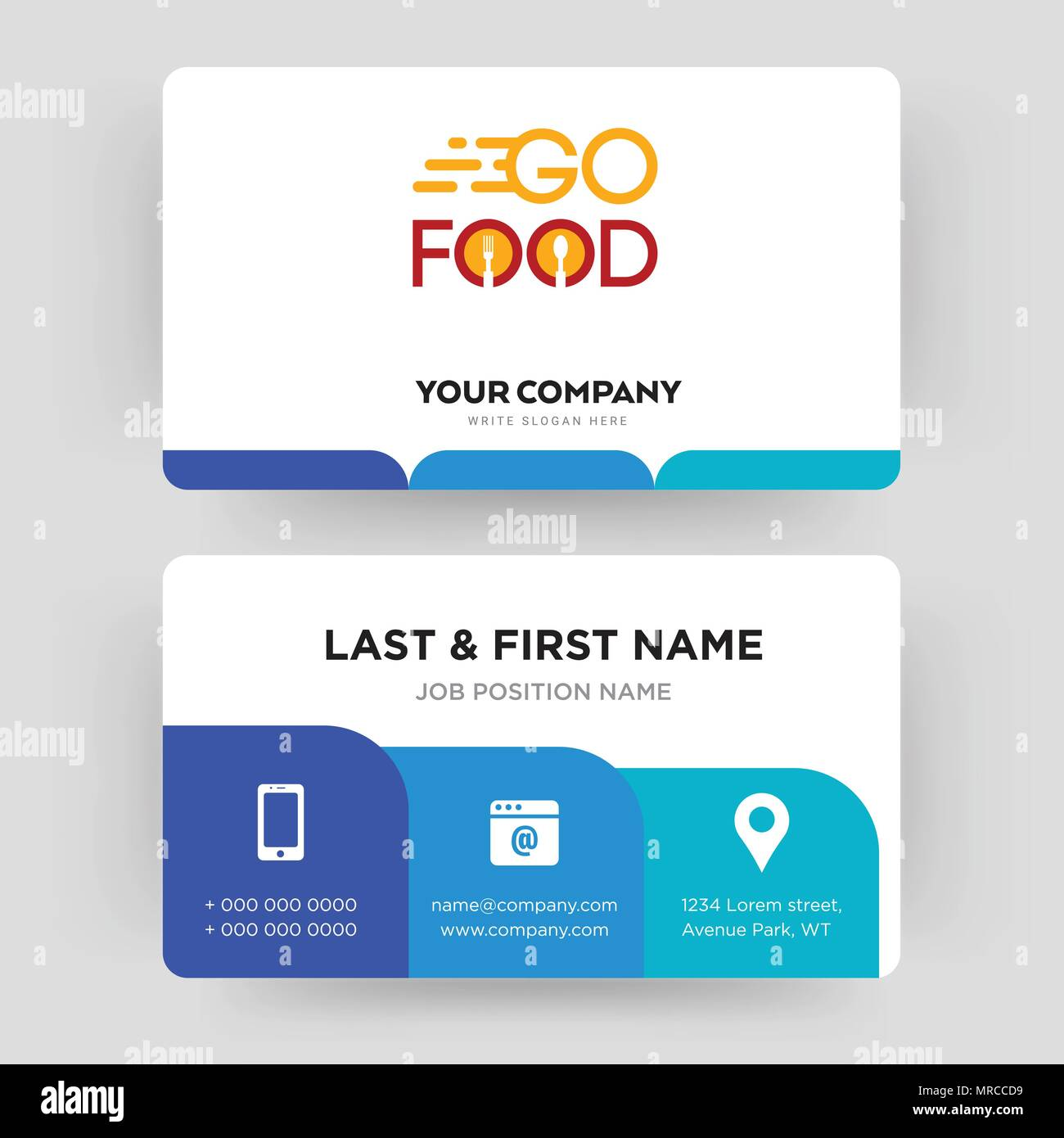 go food business card design template visiting for your company