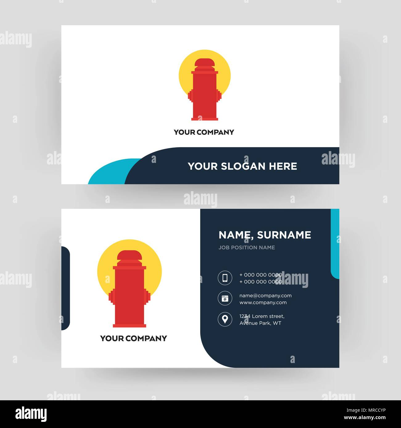 fire hydrant business card design template visiting for your