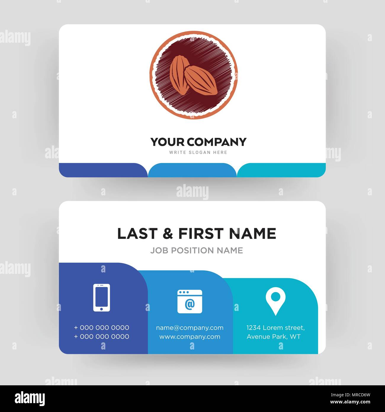Cacao business card design template visiting for your company cacao business card design template visiting for your company modern creative and clean identity card vector colourmoves