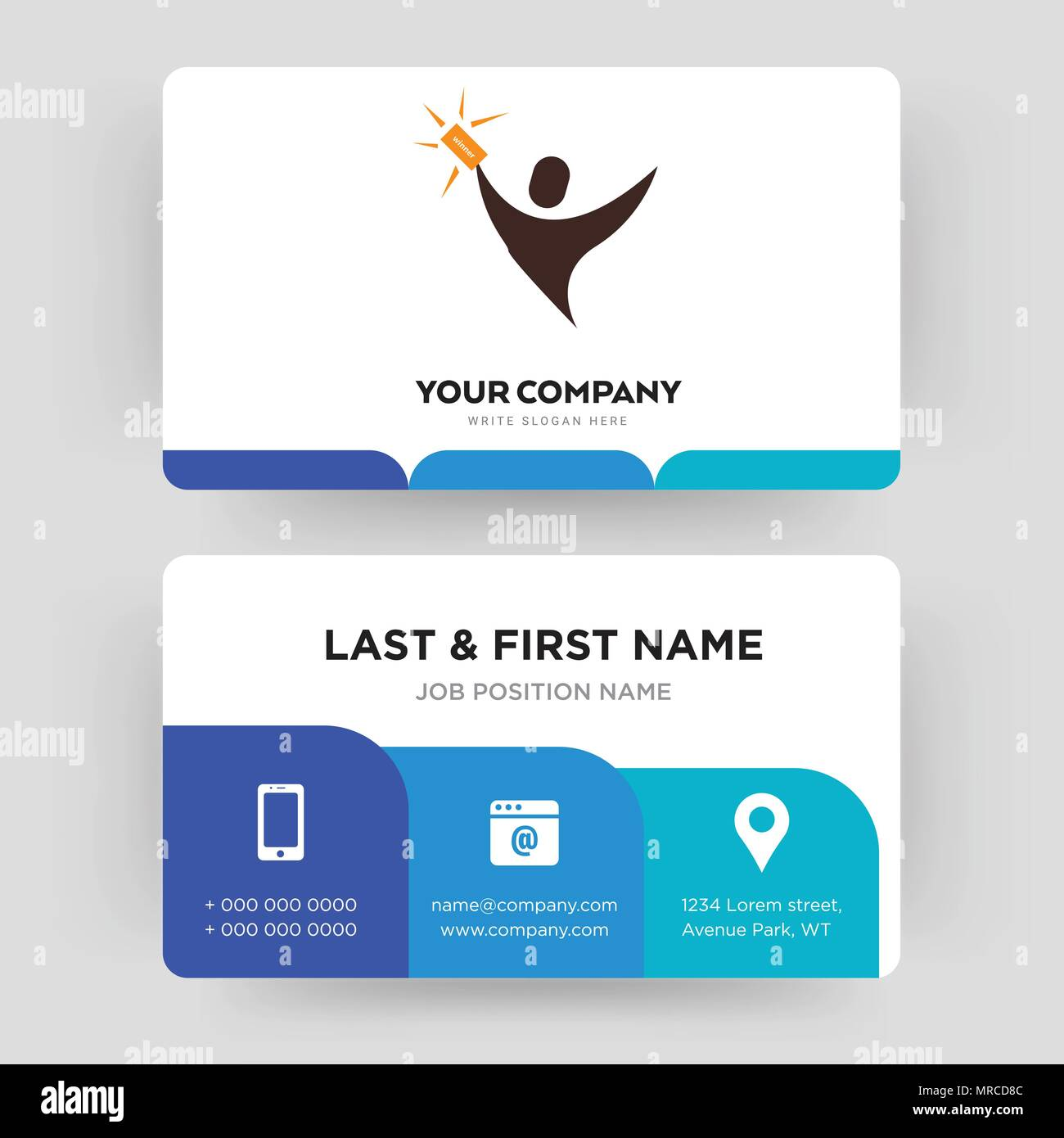 Lucky draw business card design template visiting for your company lucky draw business card design template visiting for your company modern creative and clean identity card vector reheart Choice Image