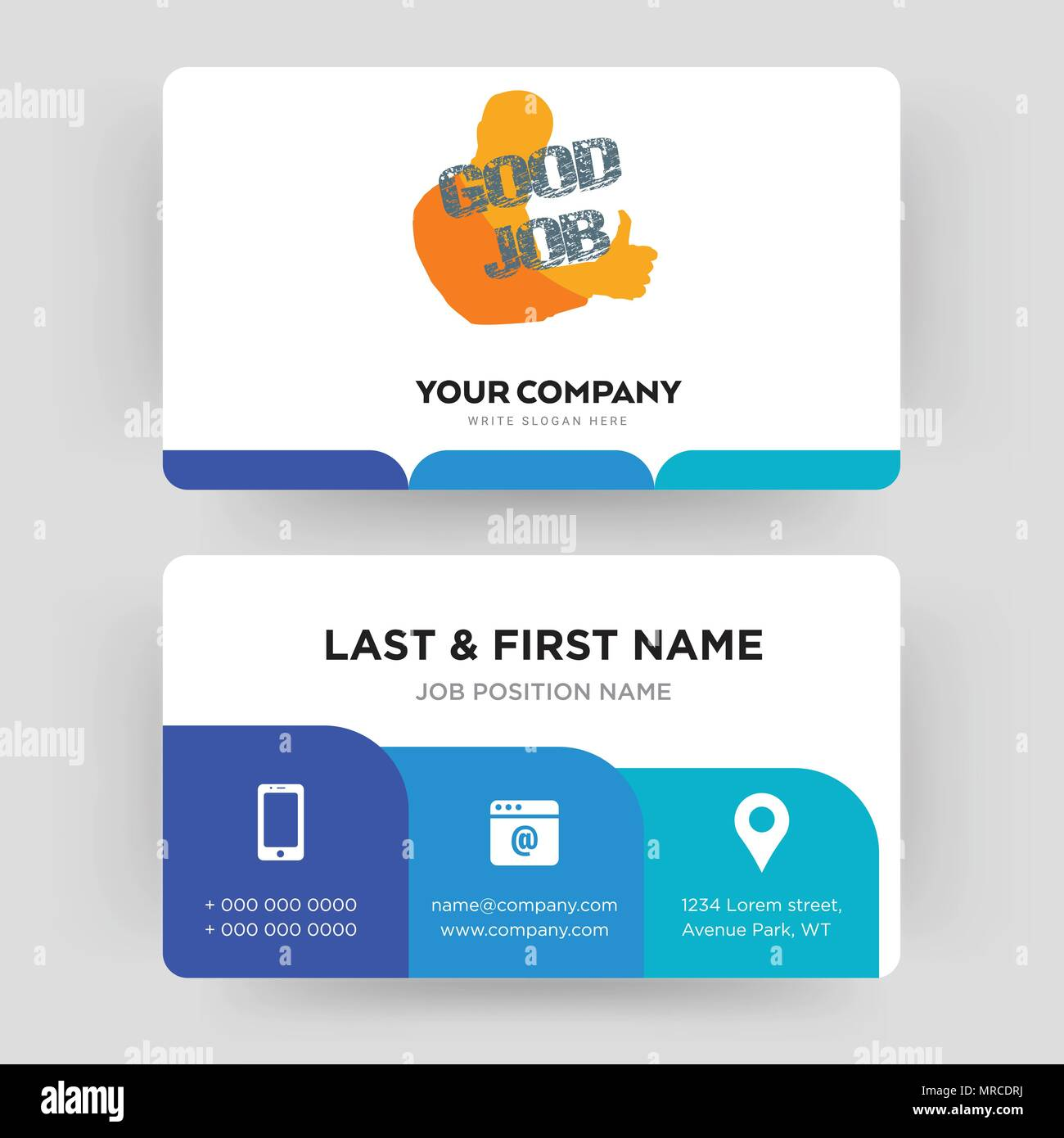 good job business card design template visiting for your company