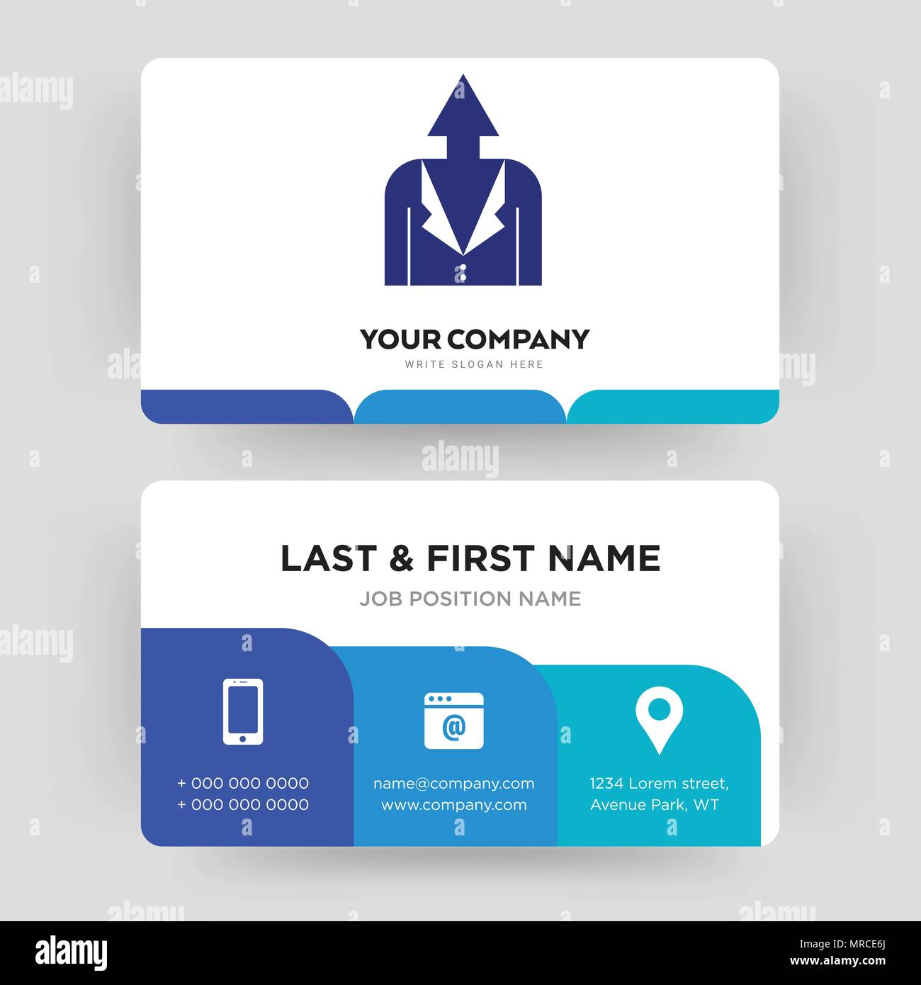 Personal Development Business Card Design Template Visiting For Your Company Modern Creative And Clean Identity Vector