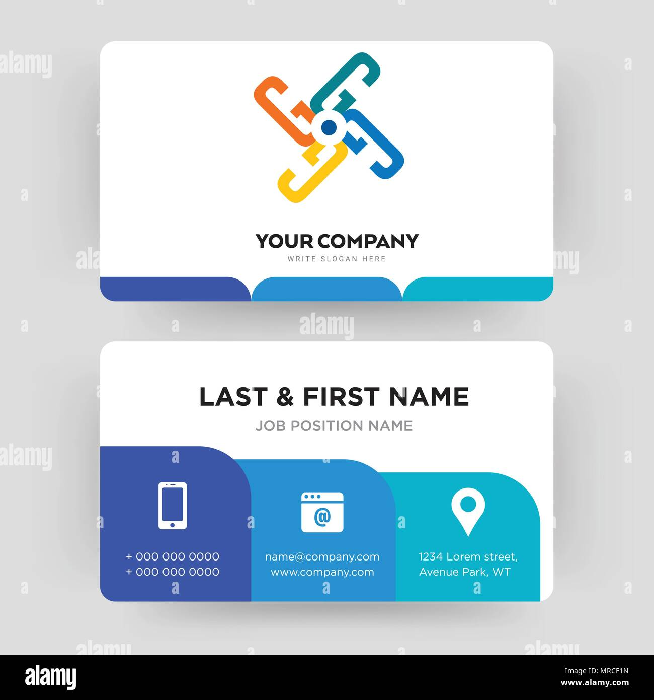 Generic business card design template visiting for your company generic business card design template visiting for your company modern creative and clean identity card vector colourmoves