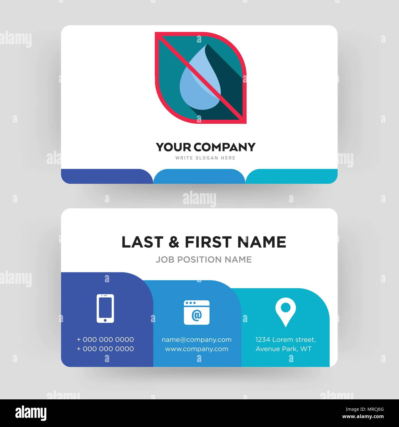 No water business card design template visiting for your company no water business card design template visiting for your company modern creative and clean identity card vector colourmoves