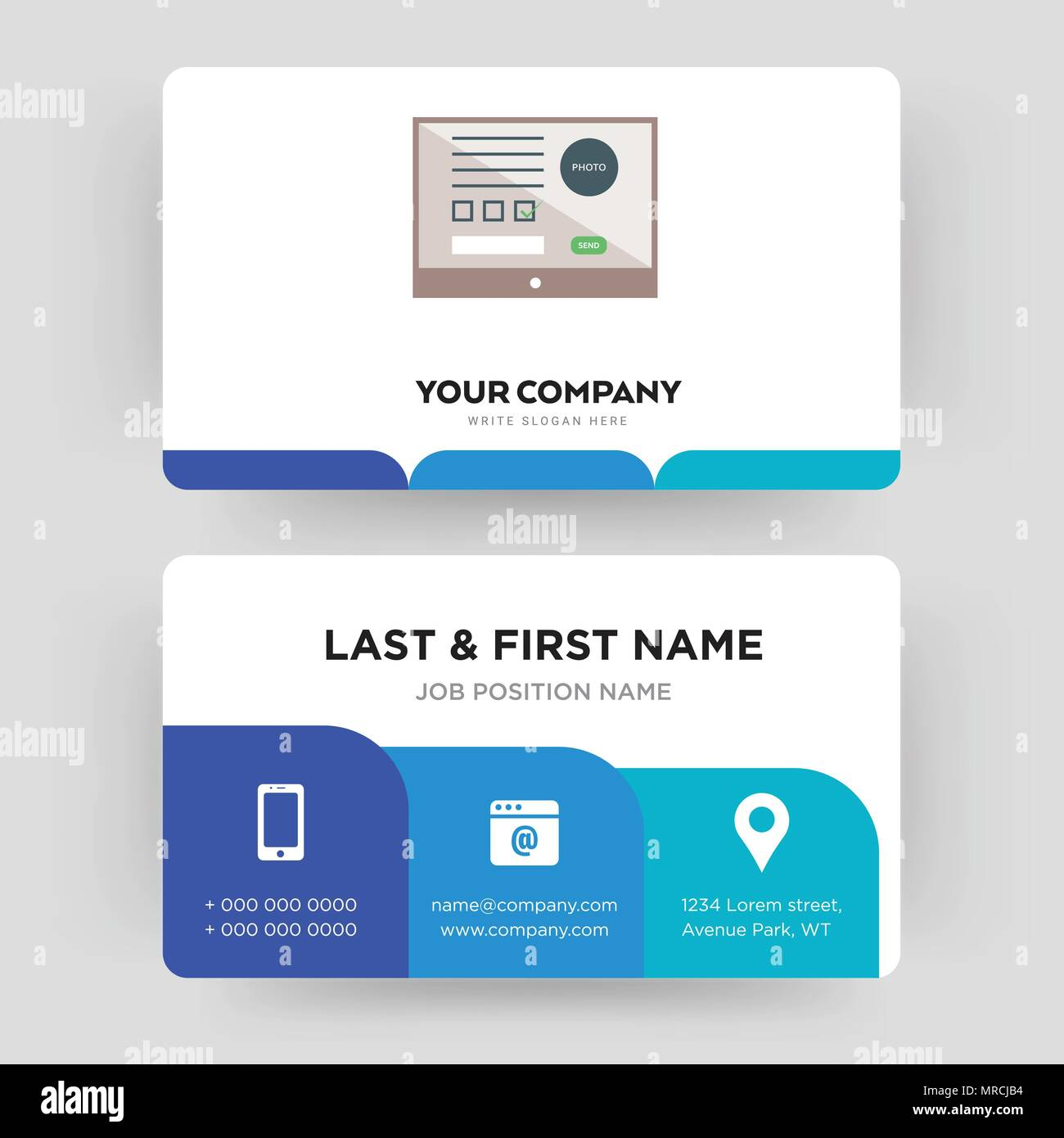 Online form business card design template visiting for your online form business card design template visiting for your company modern creative and clean identity card vector wajeb Image collections
