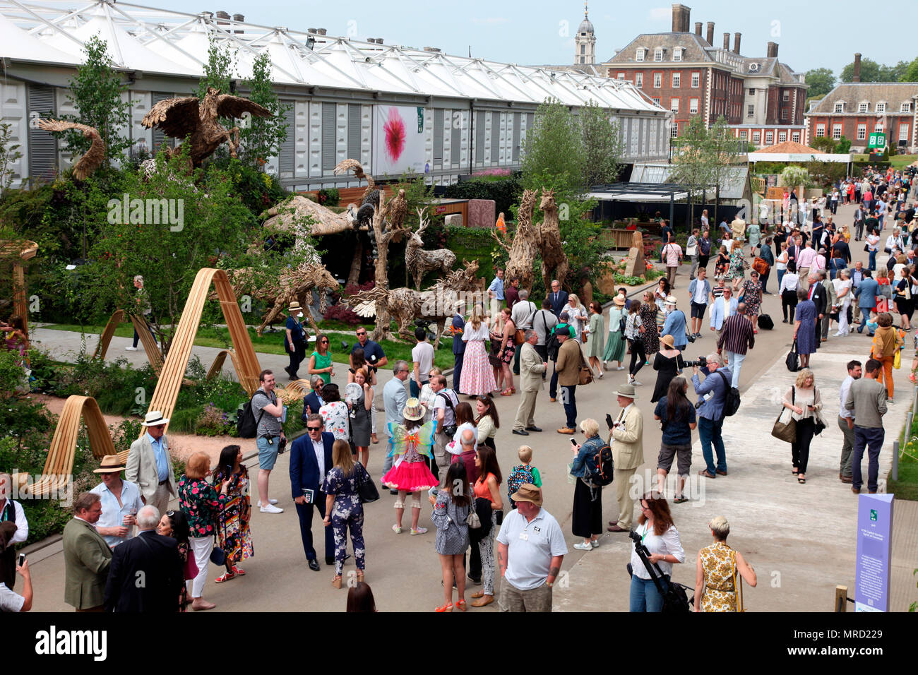 Main Avenue on Press Day, Chelsea Flower Show 2018 - Stock Image