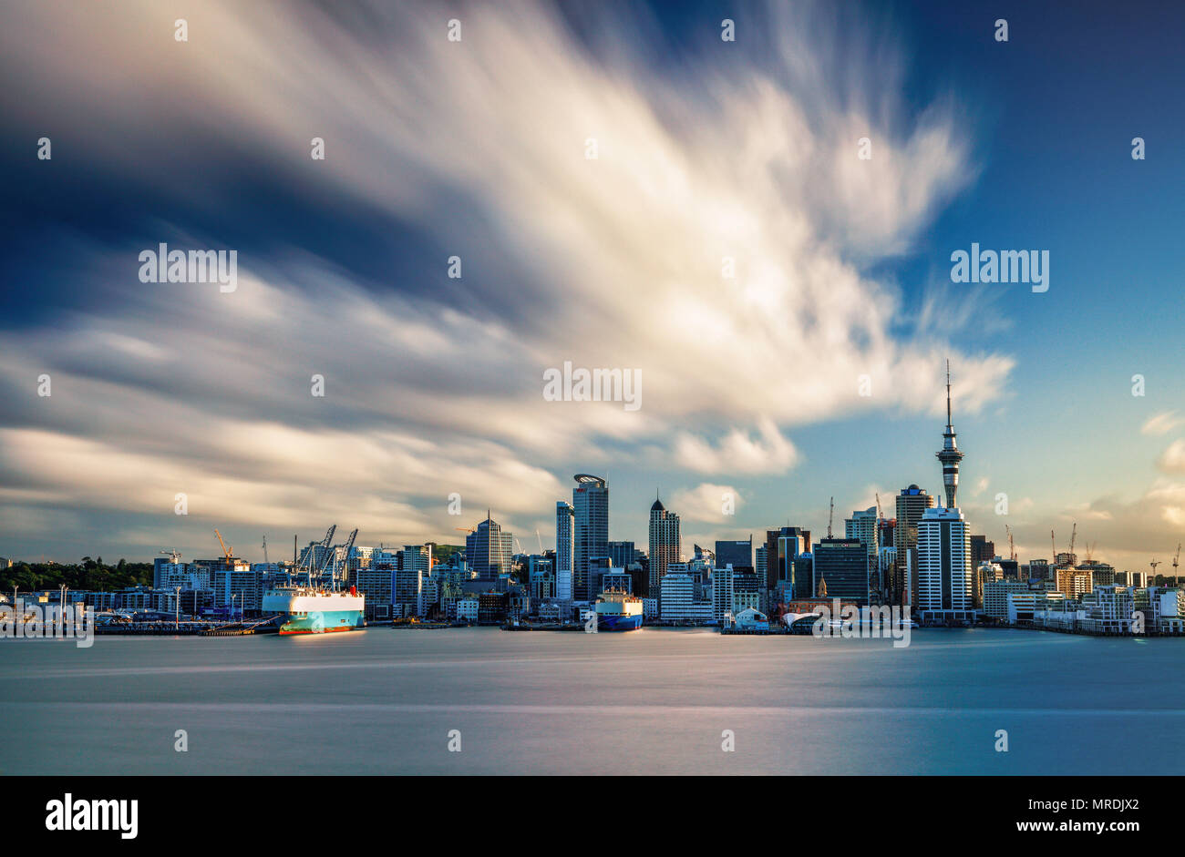 The view of Auckland City from Davenport, New Zealand. - Stock Image