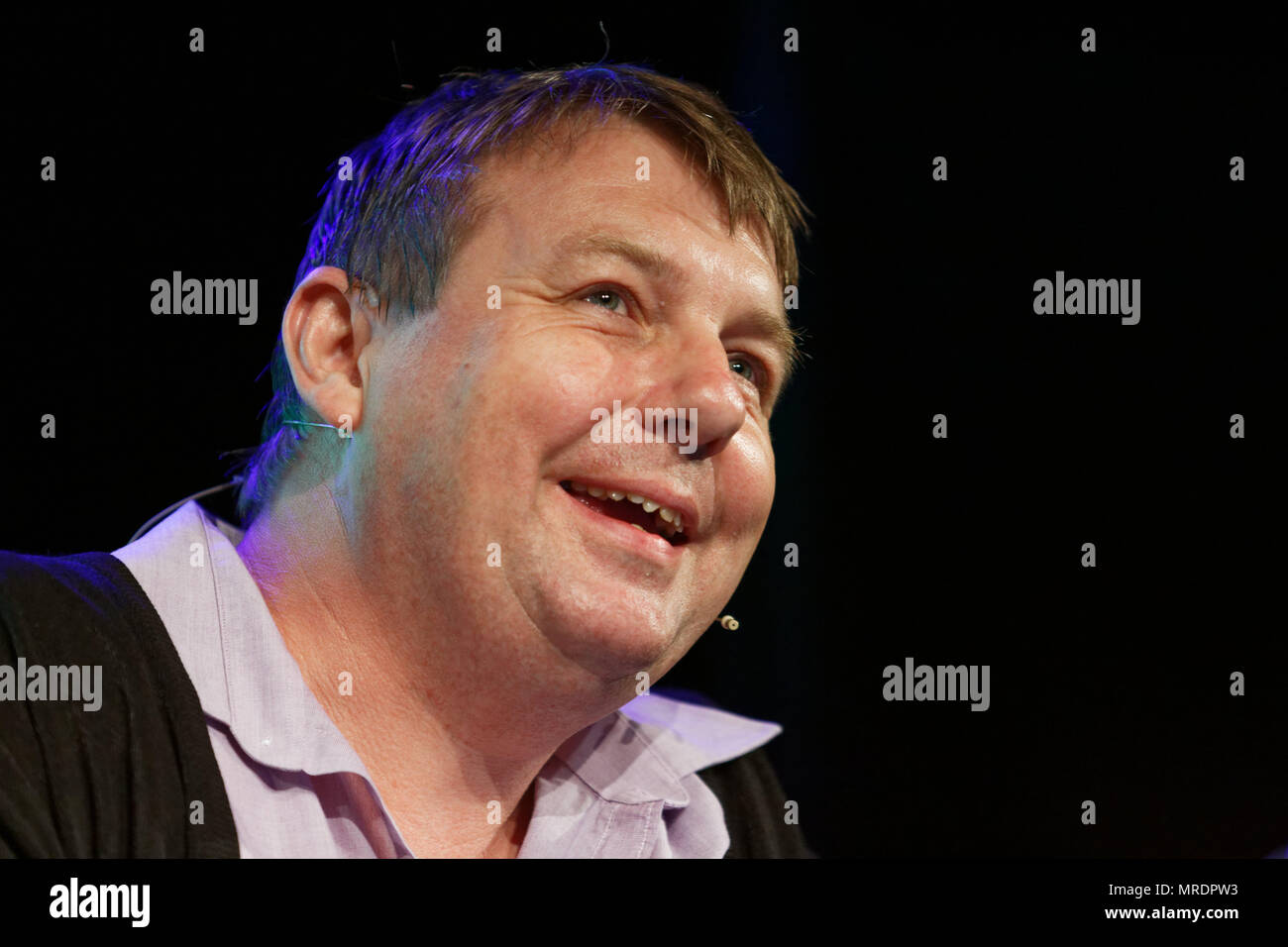 Pictured: Danny Dorling Re: Hay Festival at Hay on Wye, Powys, Wales, UK. Friday 25 May 2018 - Stock Image