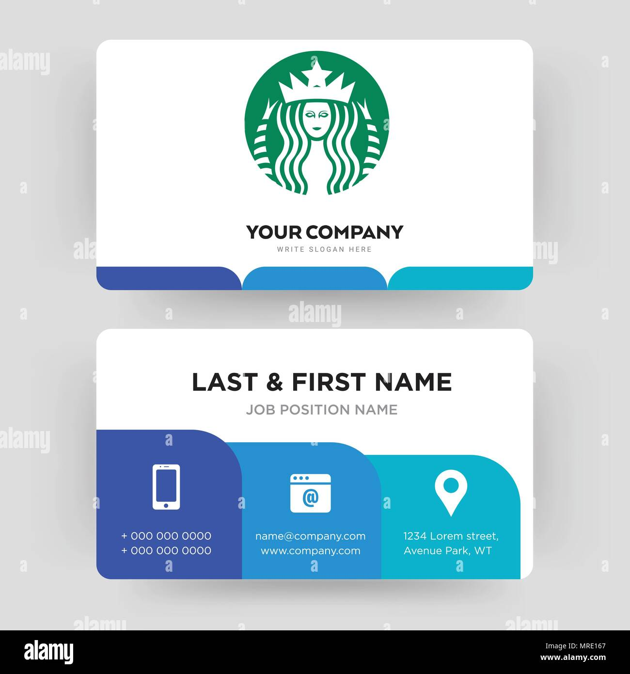 Starbucks business card design template visiting for your company starbucks business card design template visiting for your company modern creative and clean identity card vector colourmoves