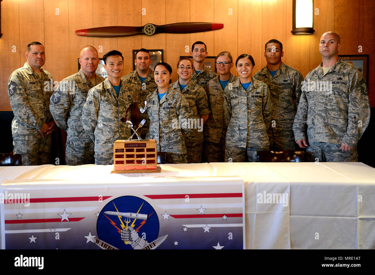 fb0cb65b572 Warrior Chef teams and judges pose for a photo after the Warrior Chef  competition at the