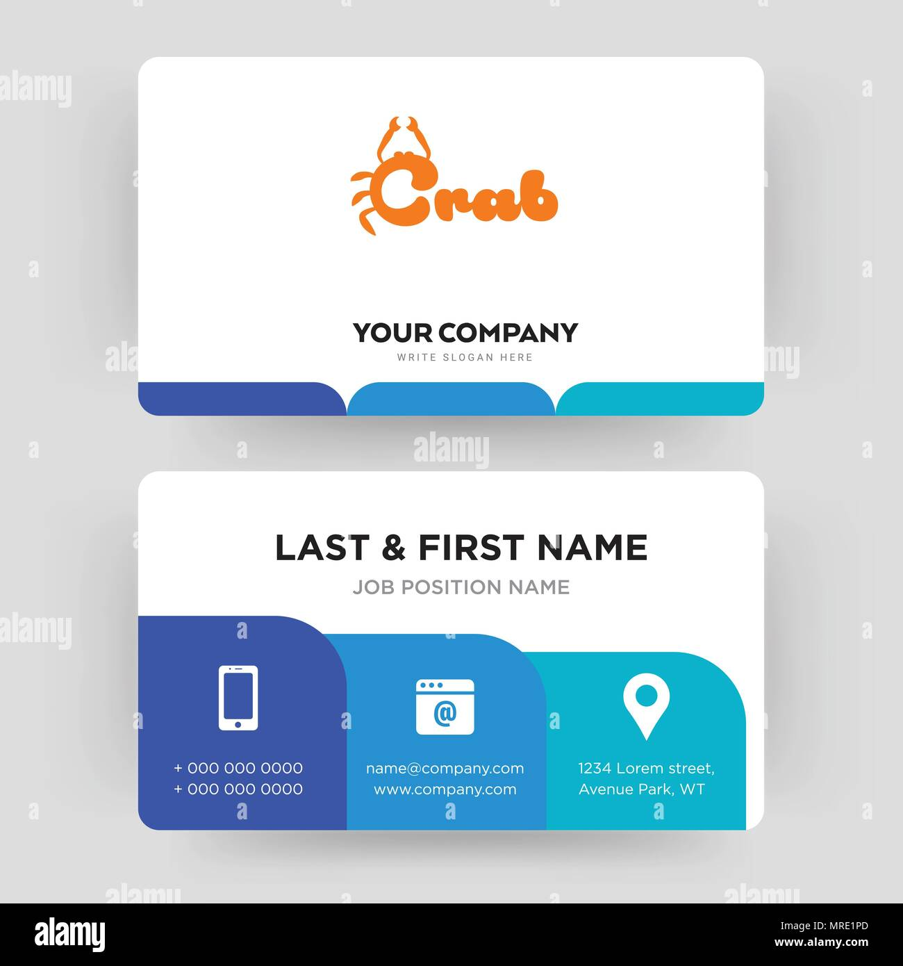 Crab business card design template visiting for your company crab business card design template visiting for your company modern creative and clean identity card vector wajeb Image collections