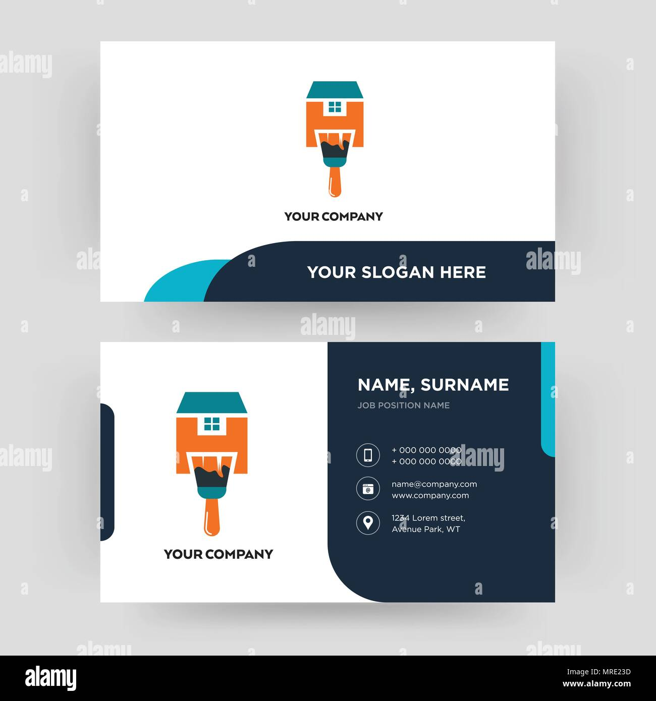 Home paint business card design template visiting for your company home paint business card design template visiting for your company modern creative and clean identity card vector accmission Gallery