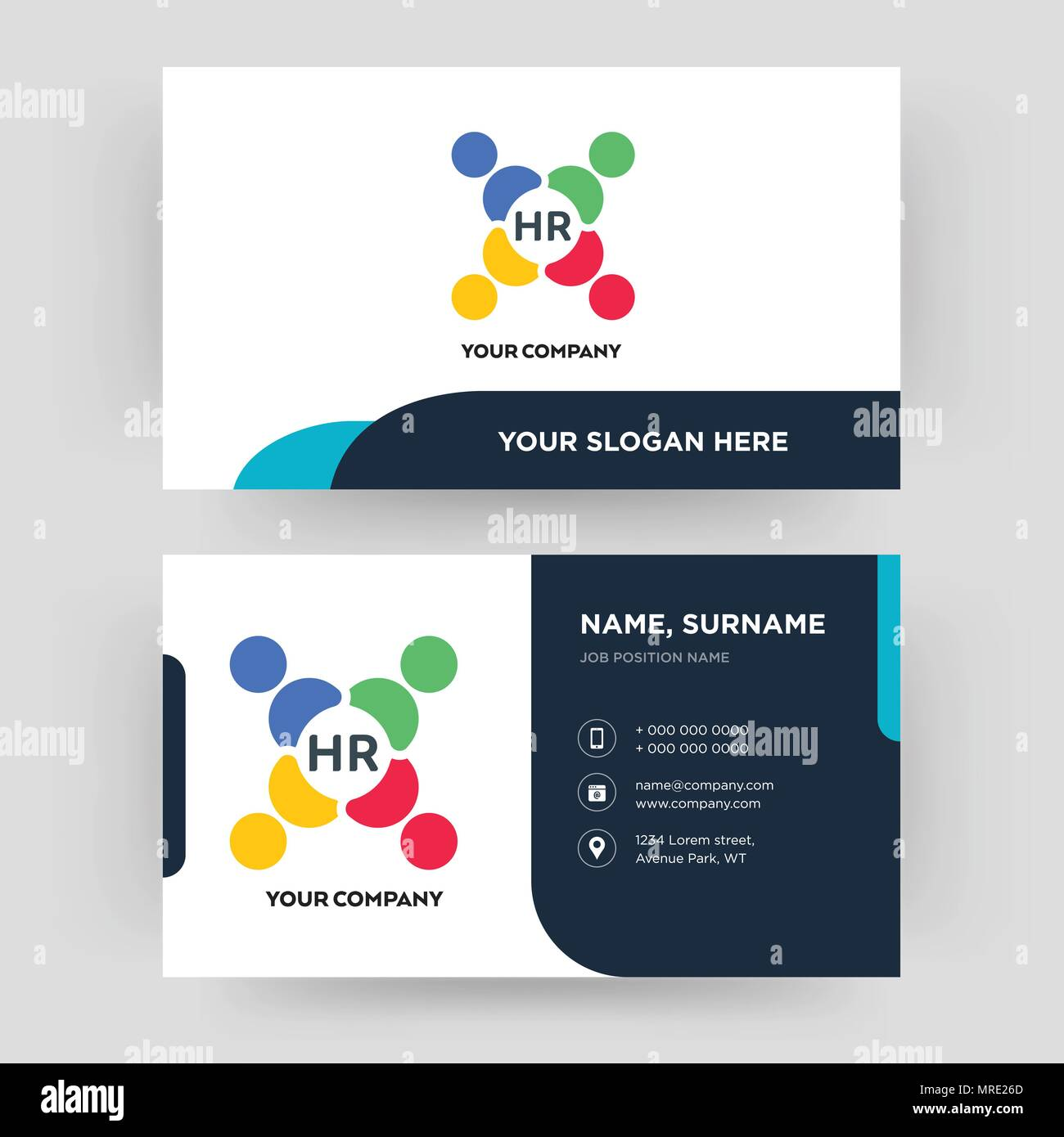 human resources business card design template visiting for your
