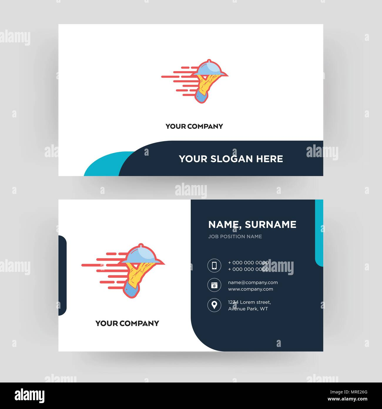 Catering services business card design template visiting for your catering services business card design template visiting for your company modern creative and clean identity card vector reheart Image collections
