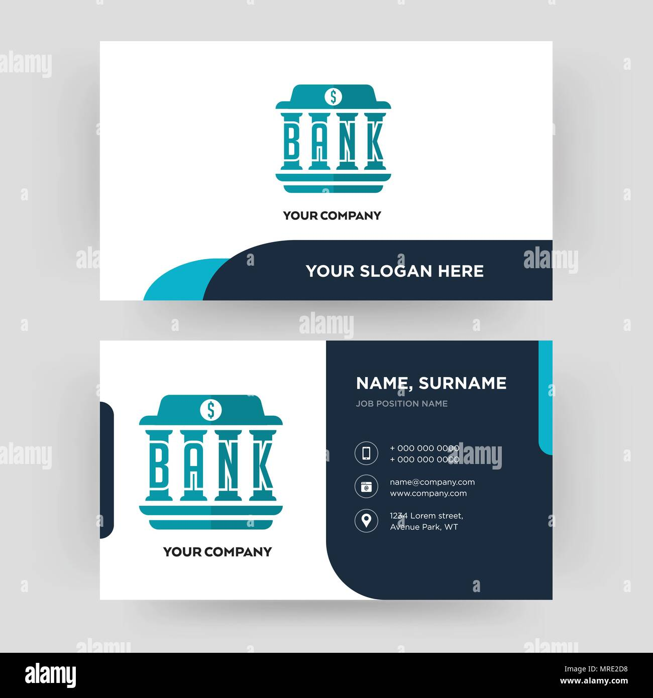 Bank Business Card Design Template Visiting For Your