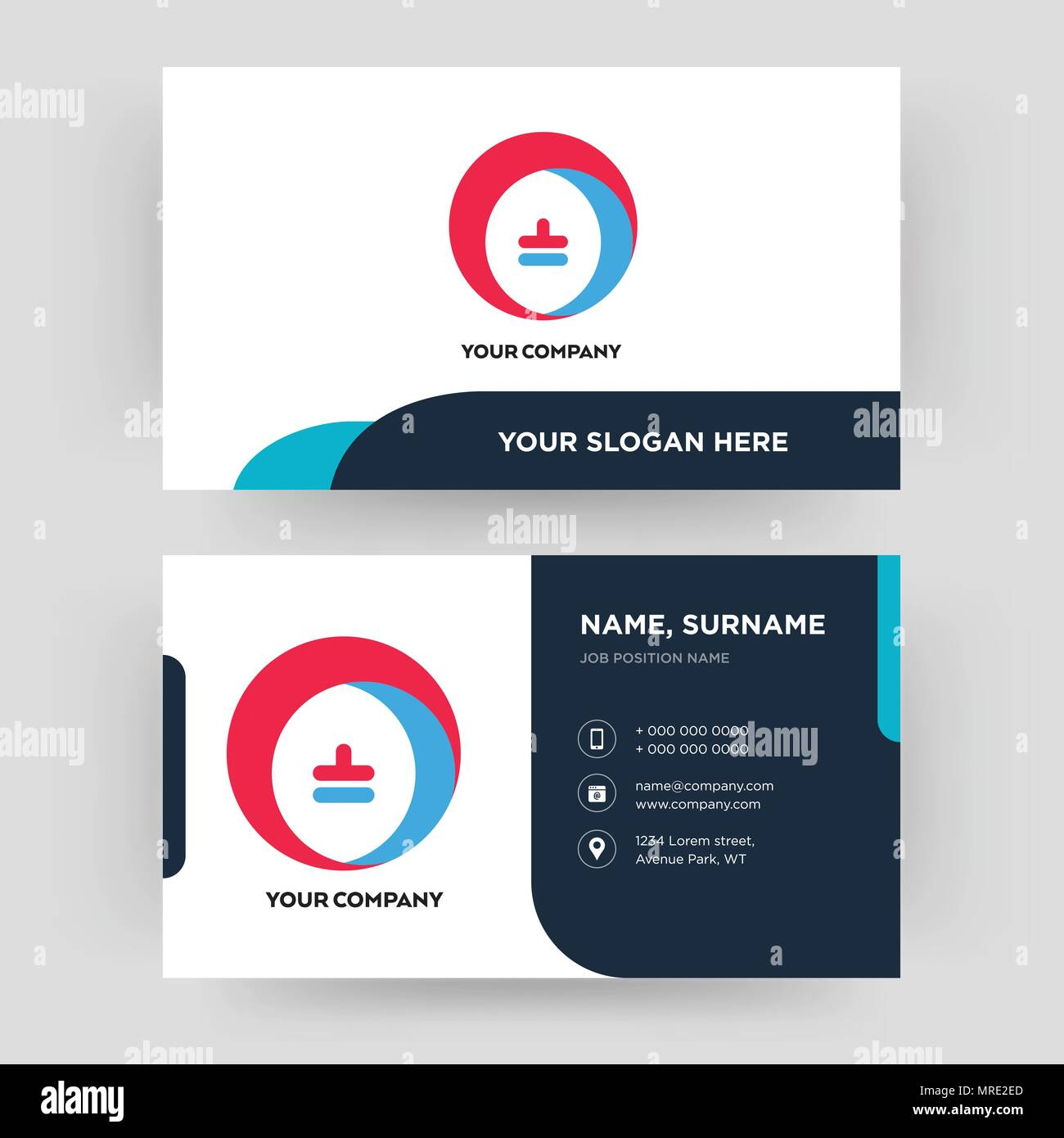 Heating Cooling Business Card Design Template Visiting For Your