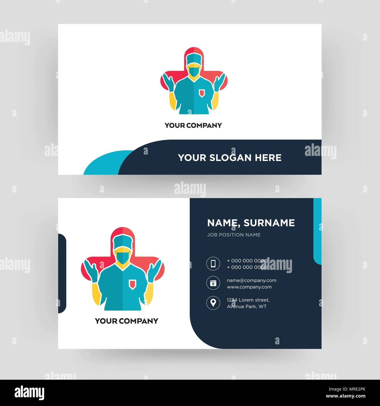 Surgeon business card design template visiting for your company surgeon business card design template visiting for your company modern creative and clean identity card vector colourmoves