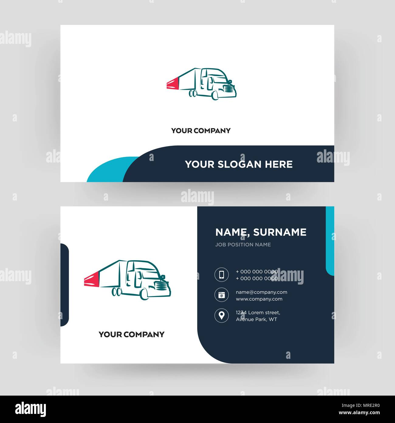 Truck company business card design template visiting for your truck company business card design template visiting for your company modern creative and clean identity card vector reheart Images