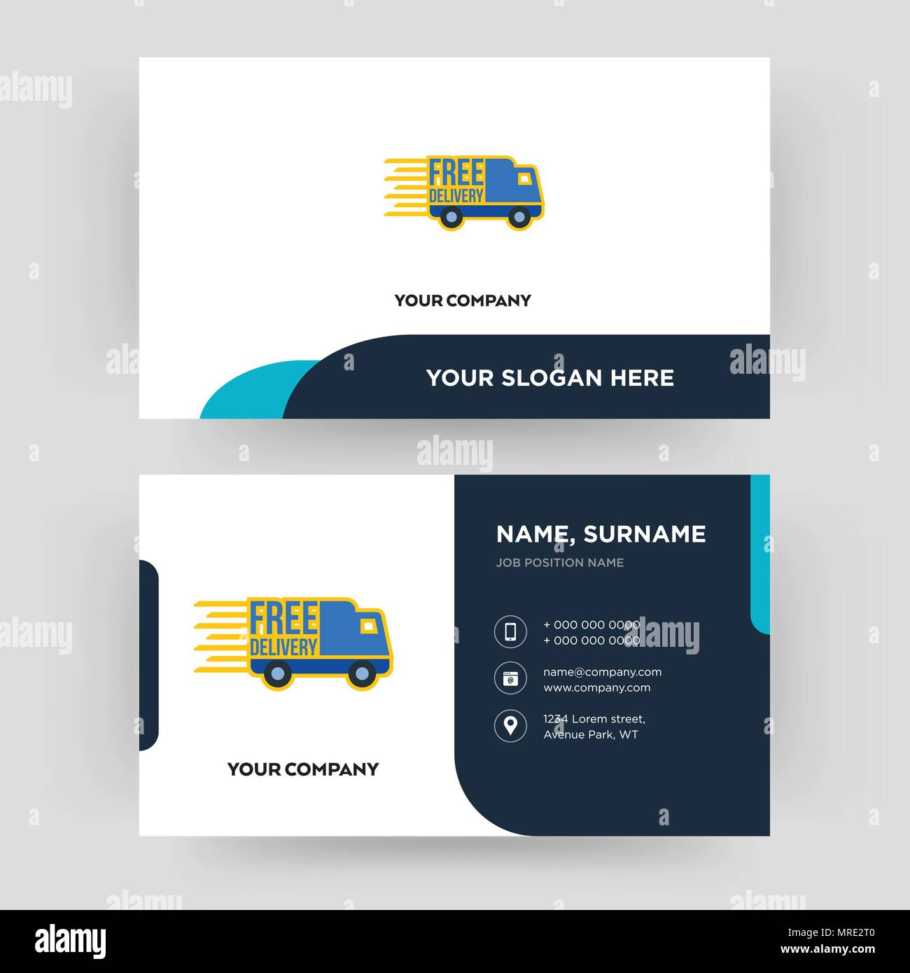 Free delivery business card design template visiting for your free delivery business card design template visiting for your company modern creative and clean identity card vector wajeb Images