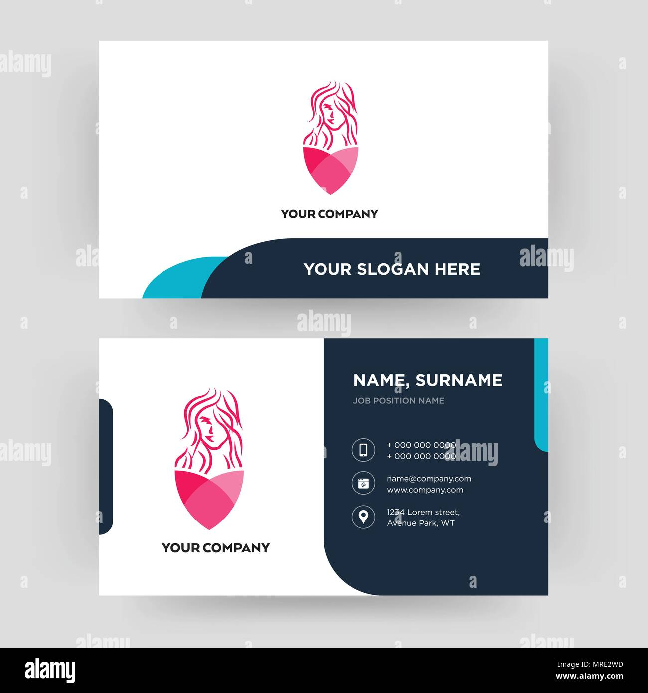 Salon Business Card Design Template Visiting For Your Company Modern Creative And Clean Identity Card Vector Stock Vector Image Art Alamy