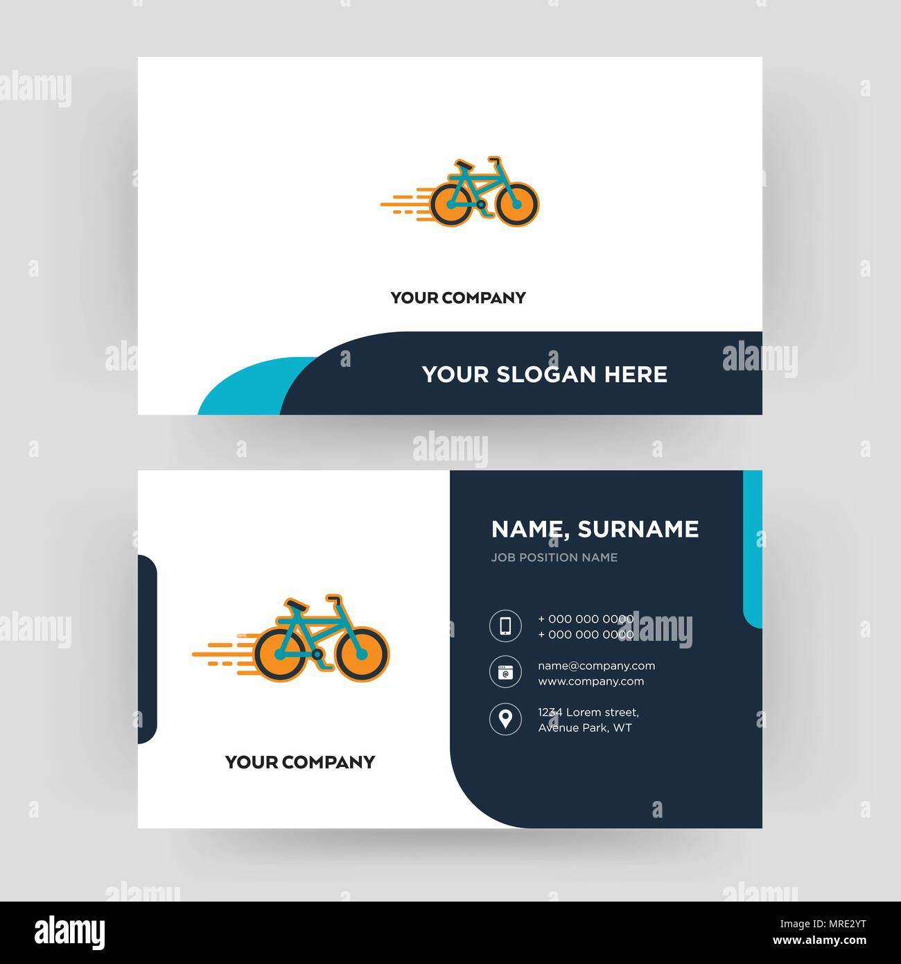 Bike shop business card design template visiting for your company bike shop business card design template visiting for your company modern creative and clean identity card vector colourmoves