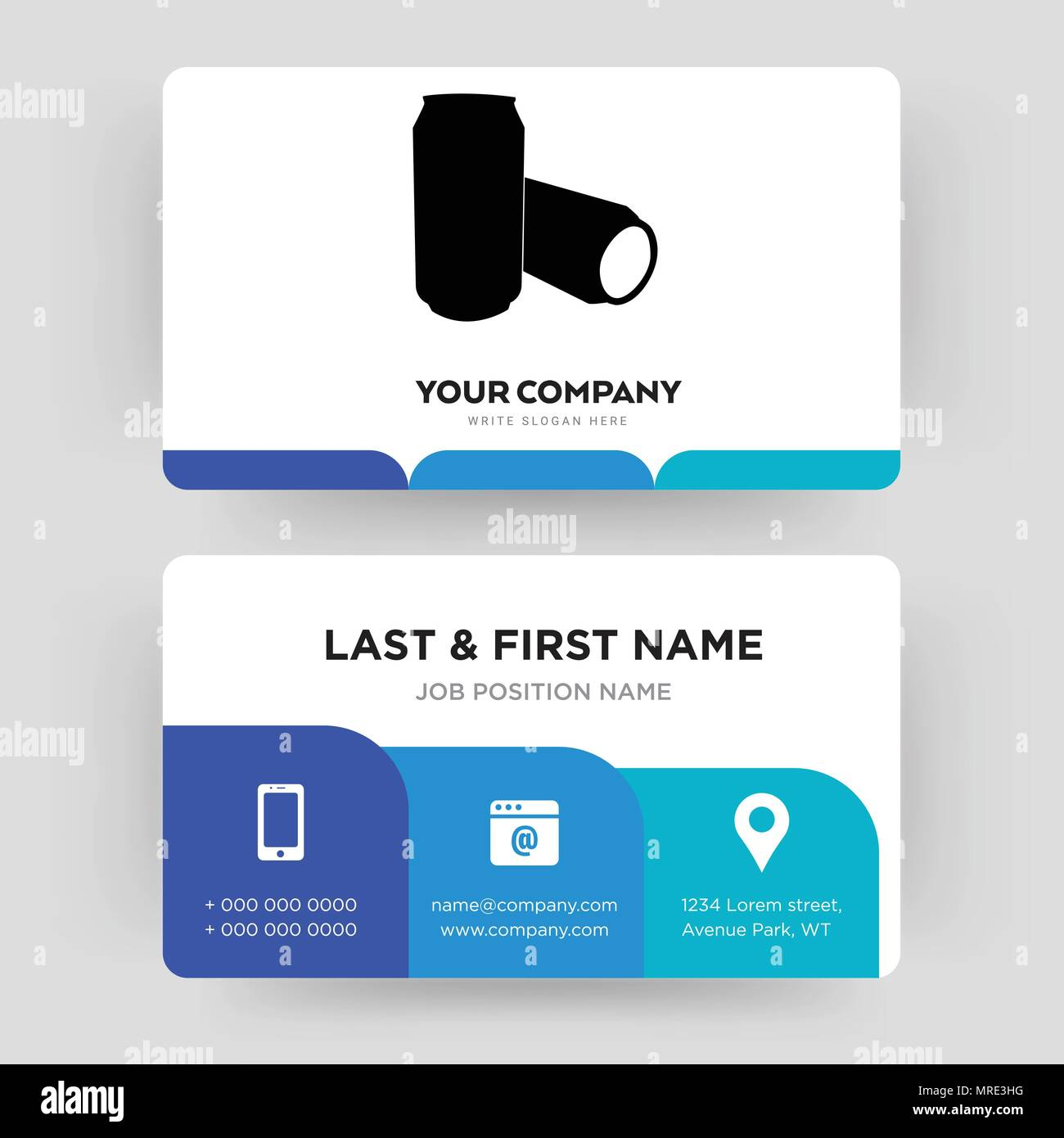 beer can business card design template visiting for your company
