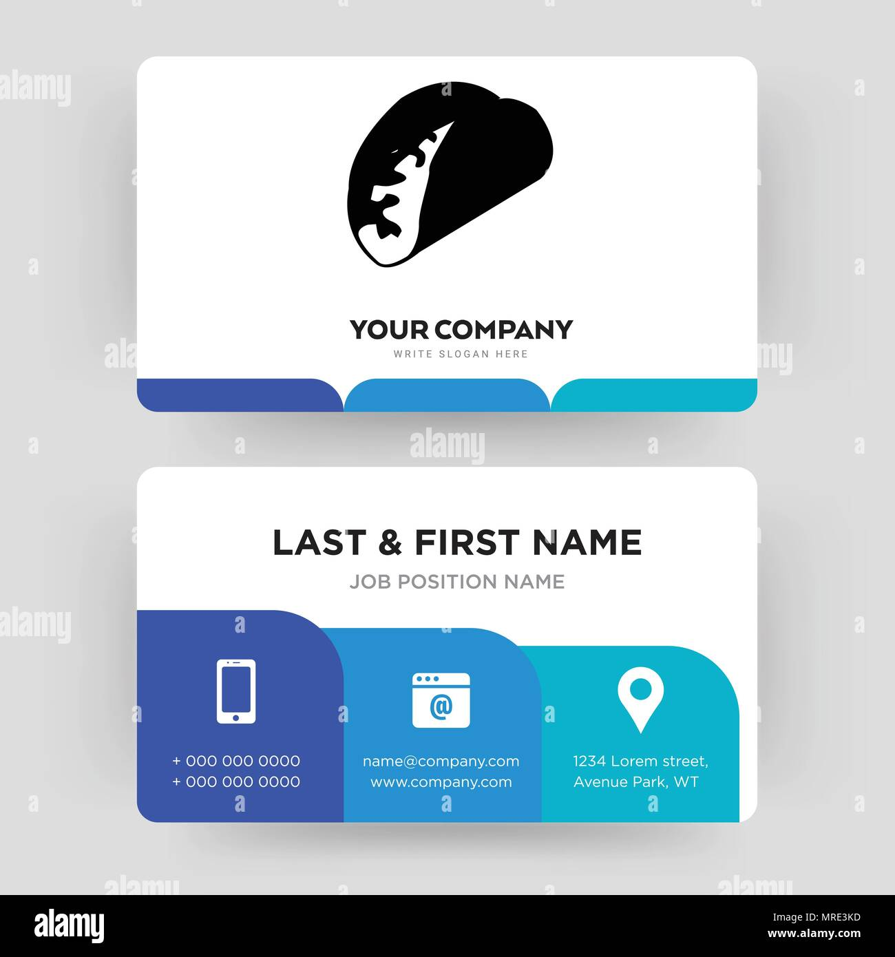 taco business card design template visiting for your company