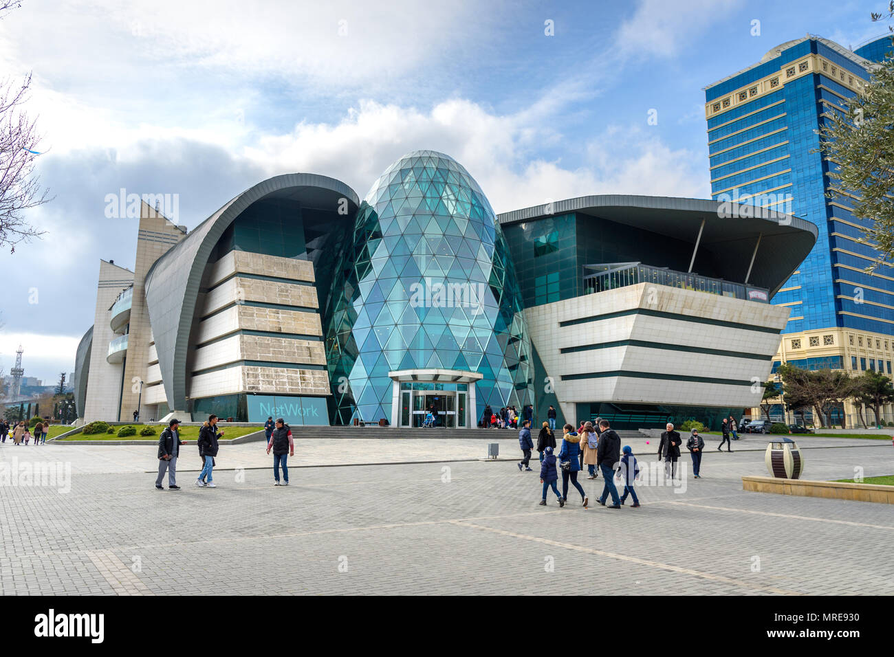 Baku, Azerbaijan - March 11, 2018: View of Park Bulvar Mall is shopping center - Stock Image