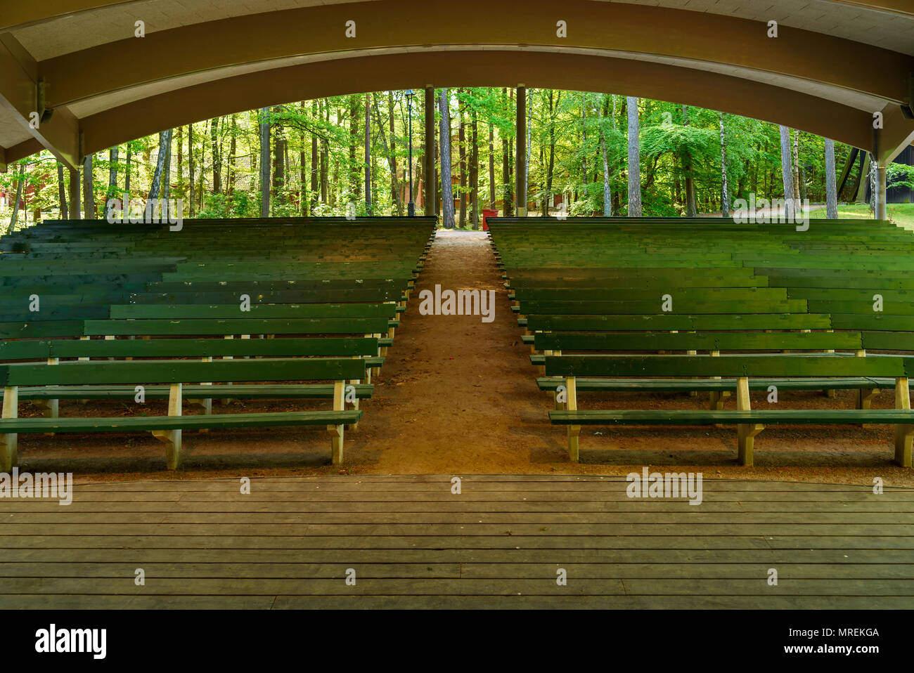 Awesome Empty Benches And An Empty Stage On This Outdoor Arena In A Caraccident5 Cool Chair Designs And Ideas Caraccident5Info