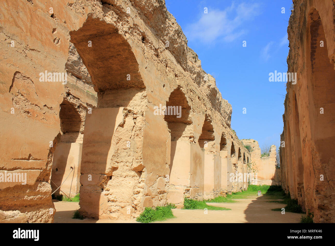 Former Royal Stables of Moulay Ismail, Meknes, Morocco - Stock Image
