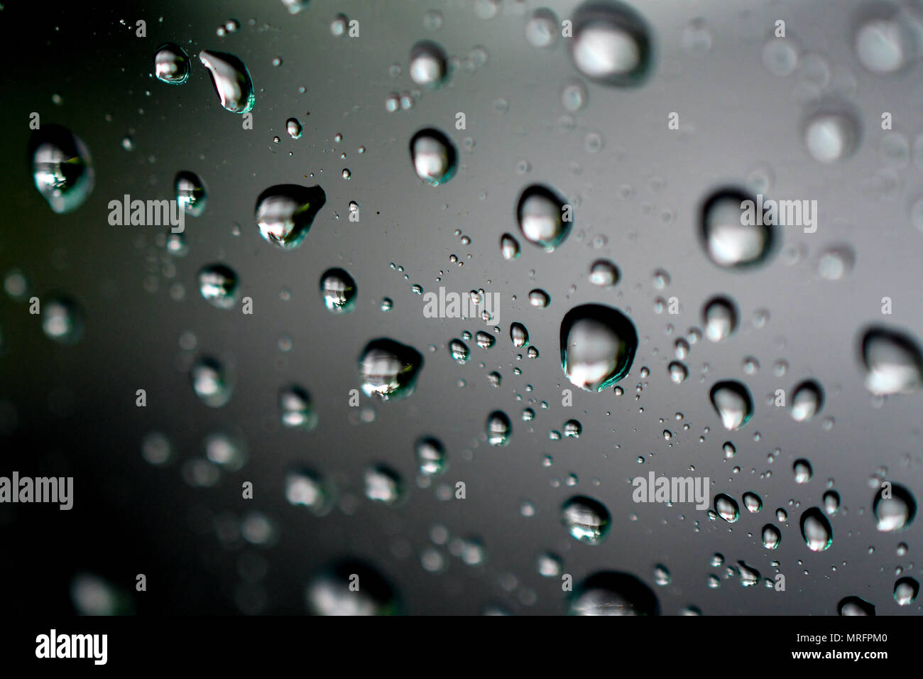 macro droplets bubbles - Stock Image