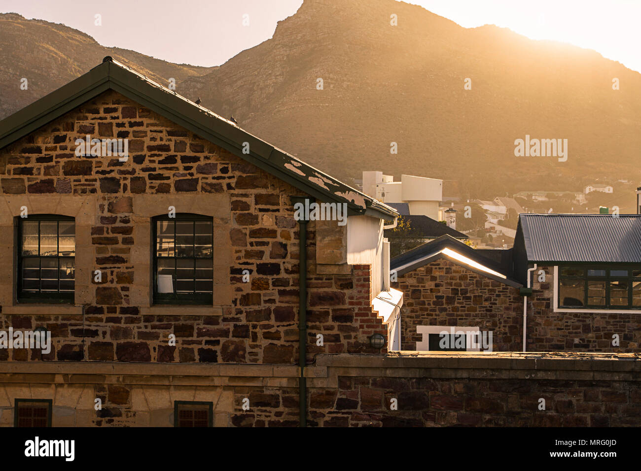 Simon's Town harbor scene in the Western Cape (Cape Town)  South Africa - Stock Image