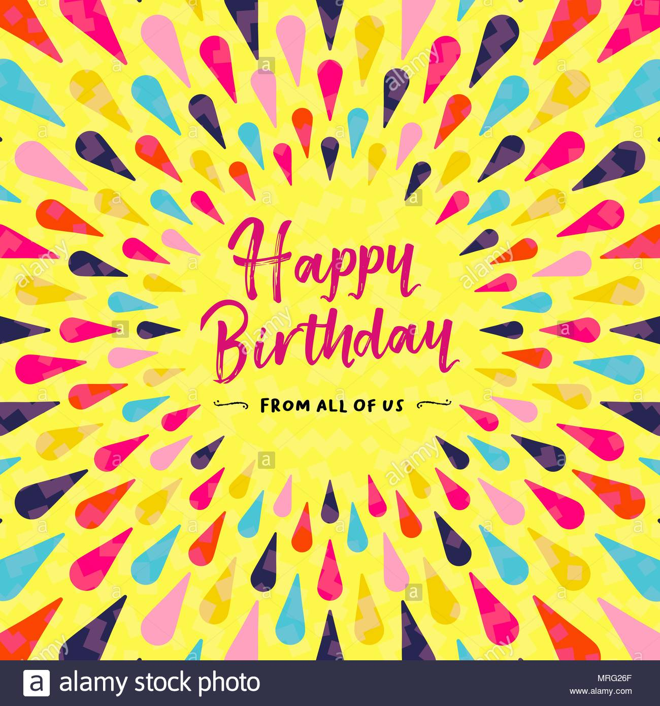 Happy birthday greeting card design for party invitation or special happy birthday greeting card design for party invitation or special event colorful festive decoration with typography quote eps10 vector stopboris Image collections