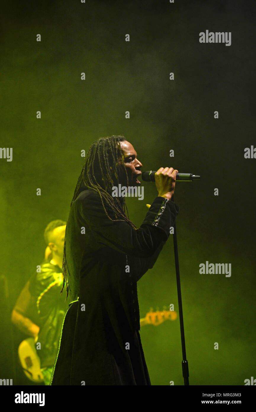 Ranking Roger born Roger Charlery 21 February 1963 is a British musician. He was a vocalist in the 1980s two-tone band, The Beat or English Beat - Stock Image