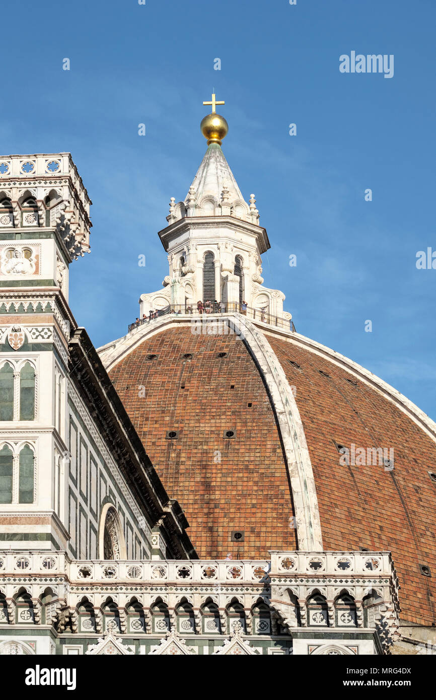 Cupola del Brunelleachi; Piazza del Duomo; Florence; Tuscany; Italy; Europe; Stock Photo