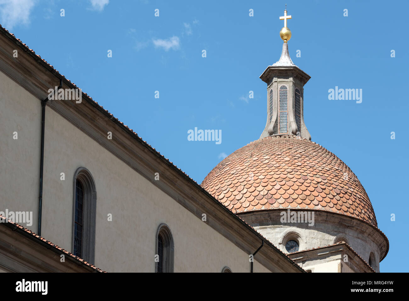 Basilica di Santo Spirito, Oltrarno quarter, Piazza Santo Spirito, Florence, Tuscany, Italy, Europe, Stock Photo