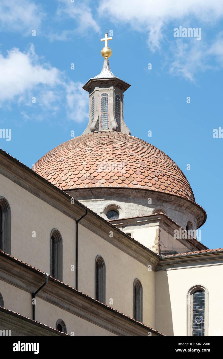 Basilica di Santo Spirito, Oltrarno quarter, Piazza Santo Spirito, Florence, Tuscany, Italy, Europe, - Stock Image