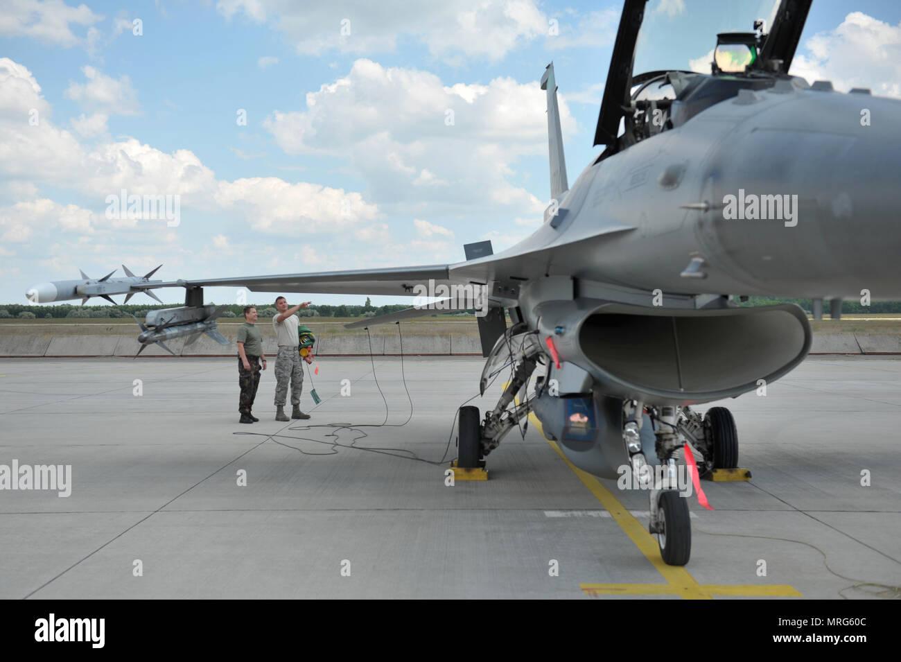 Airman First Class Damon St John an F16 Fighting Falcon mechanic
