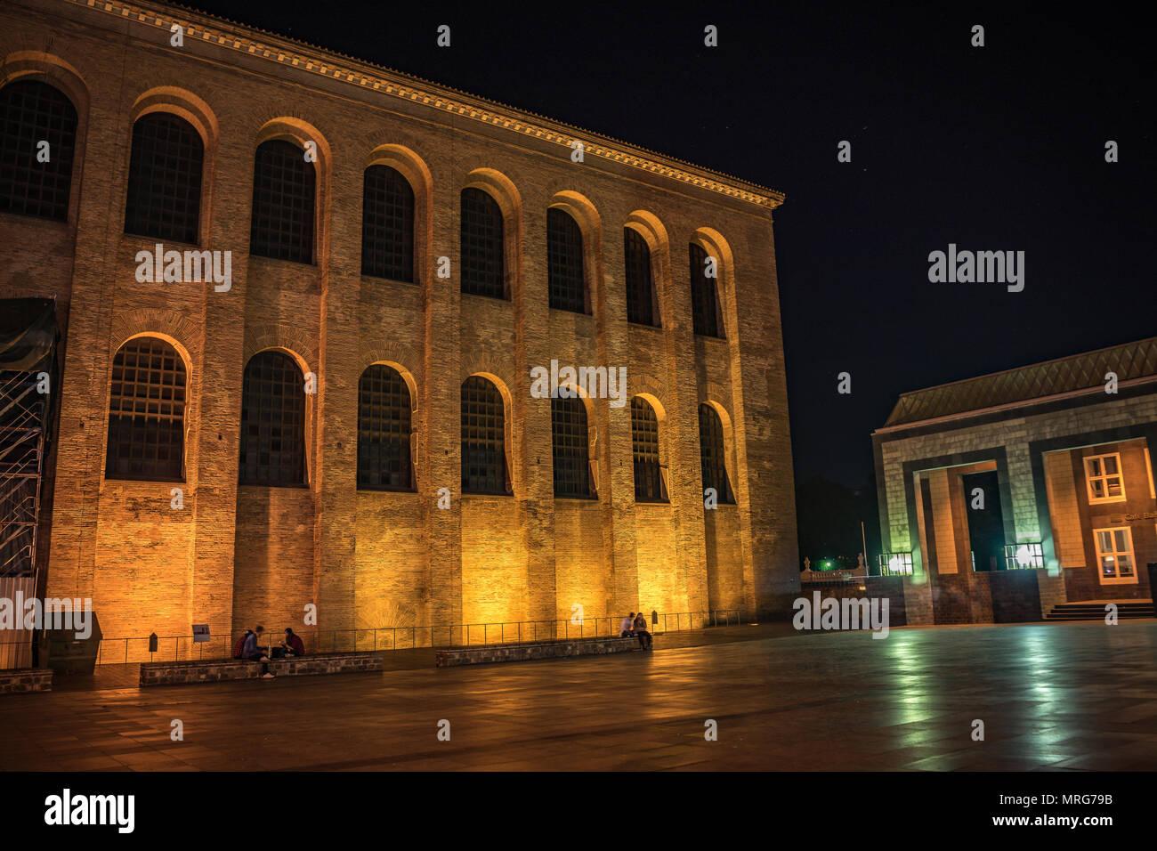 Longexposure Trier night - Stock Image