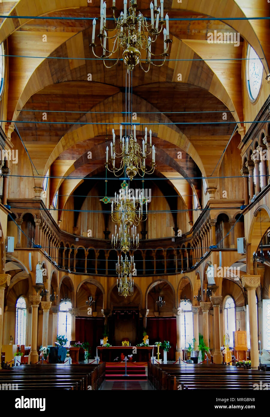 Interior view to Saint Peter and Paul Cathedral 08-05-2013 Paramaribo, Suriname - Stock Image