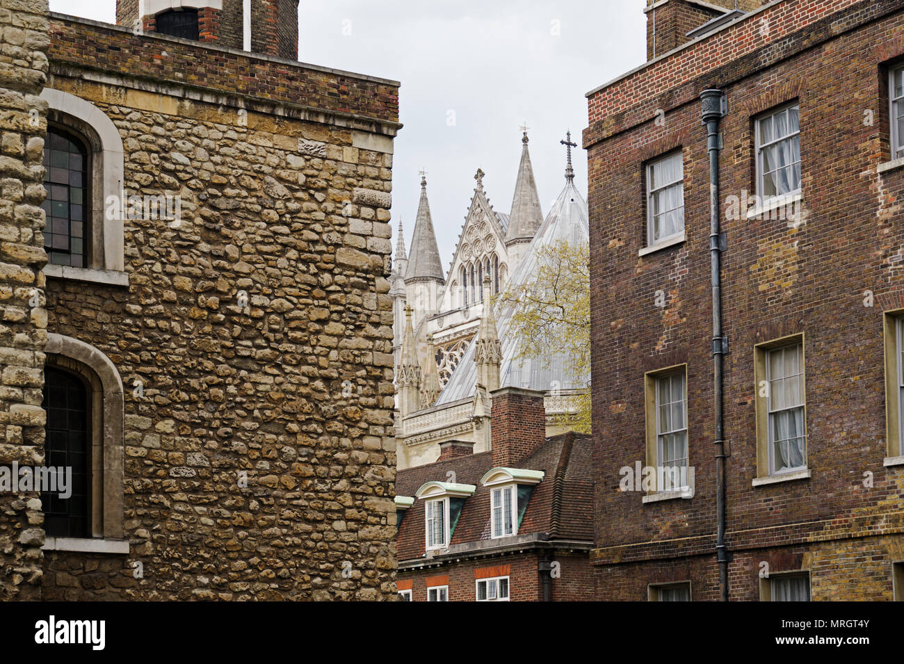 Jewel House and Westminster Abbey London England Stock Photo