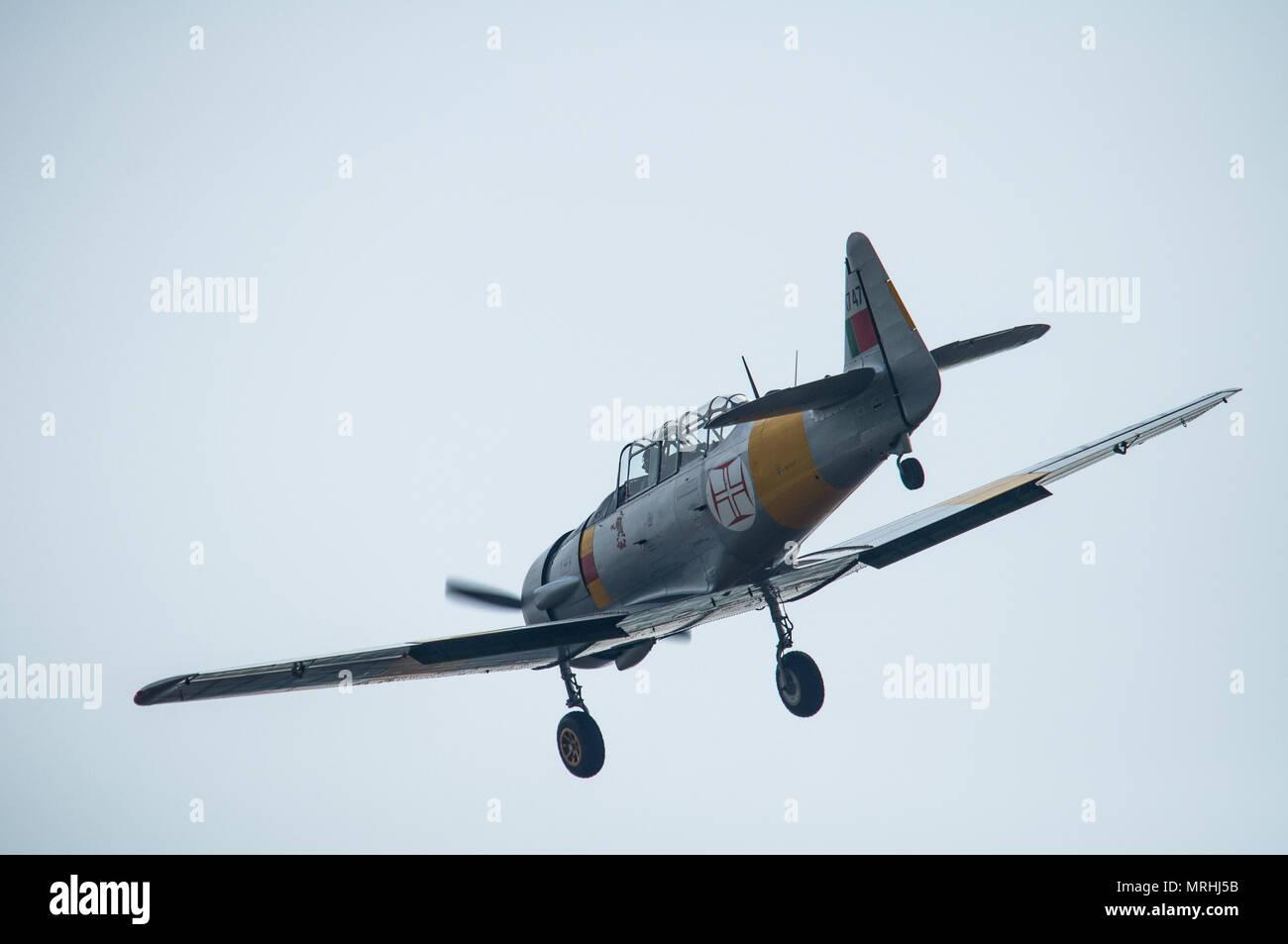 North American T-6 Harvard Aircraft - Stock Image