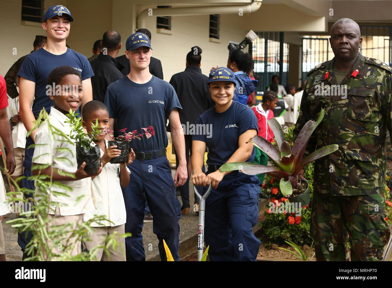 trinidad and tobago defence force col roger carter right the
