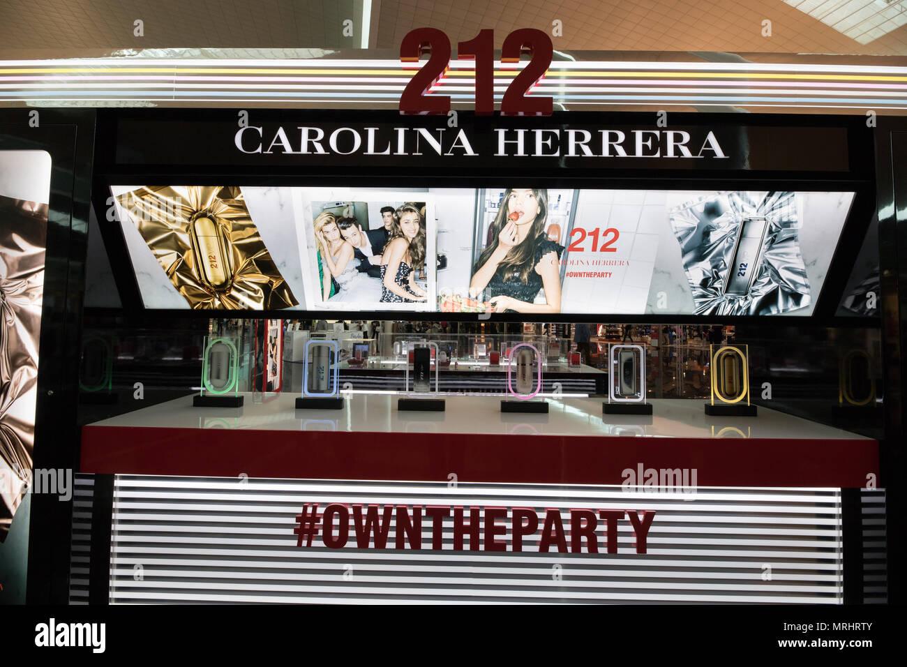 Barcelona airport, Spain CAROLINA HERRERA store business - Stock Image 79e218881e