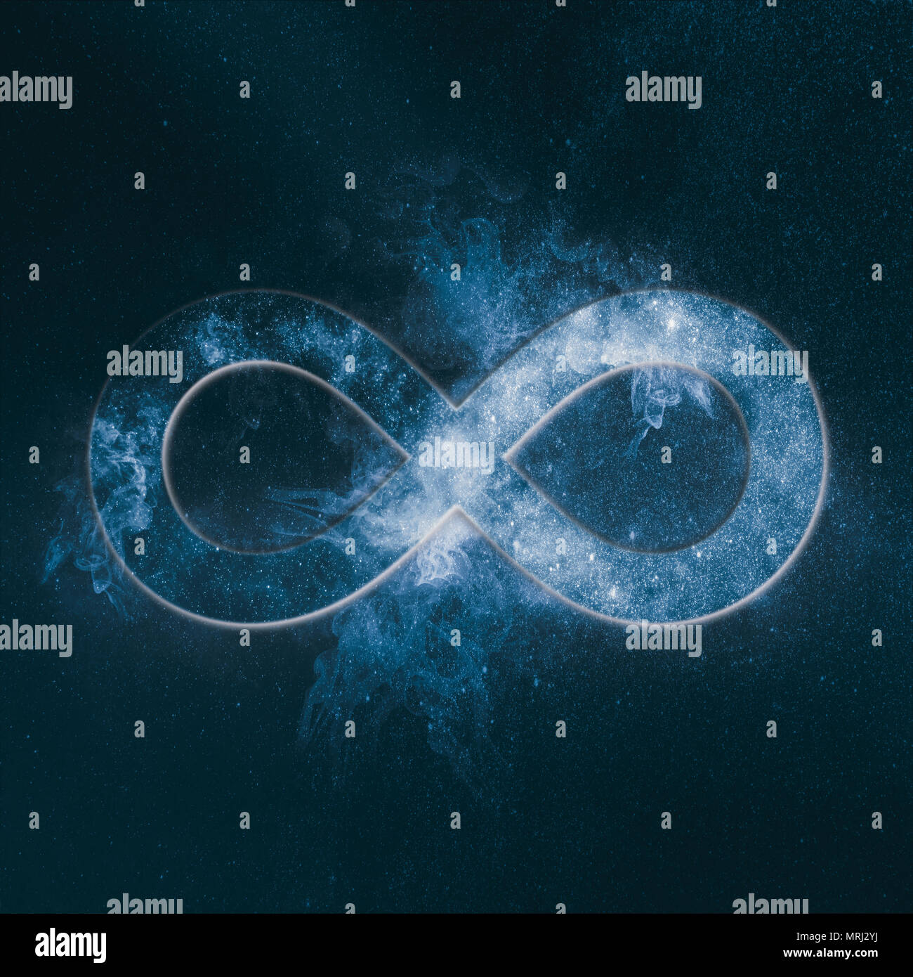 Infinity symbol or sign Abstract night sky