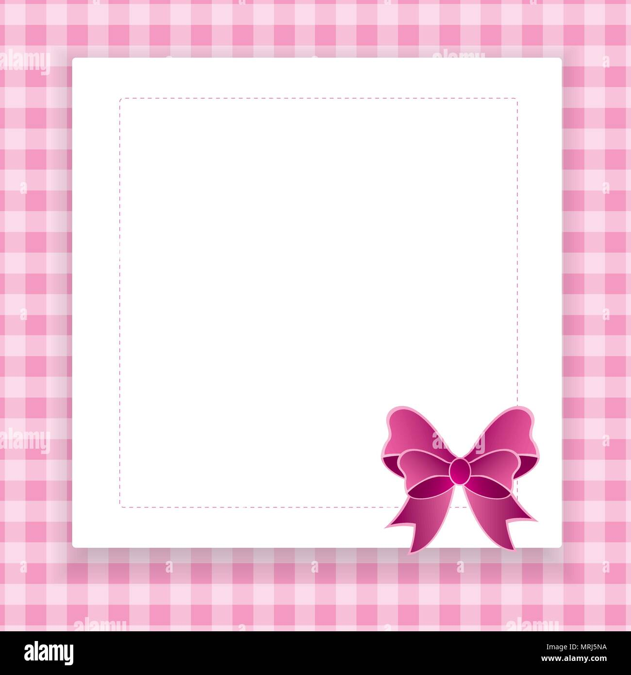 Pink Vector Invitation Card For Baby Shower Wedding Or