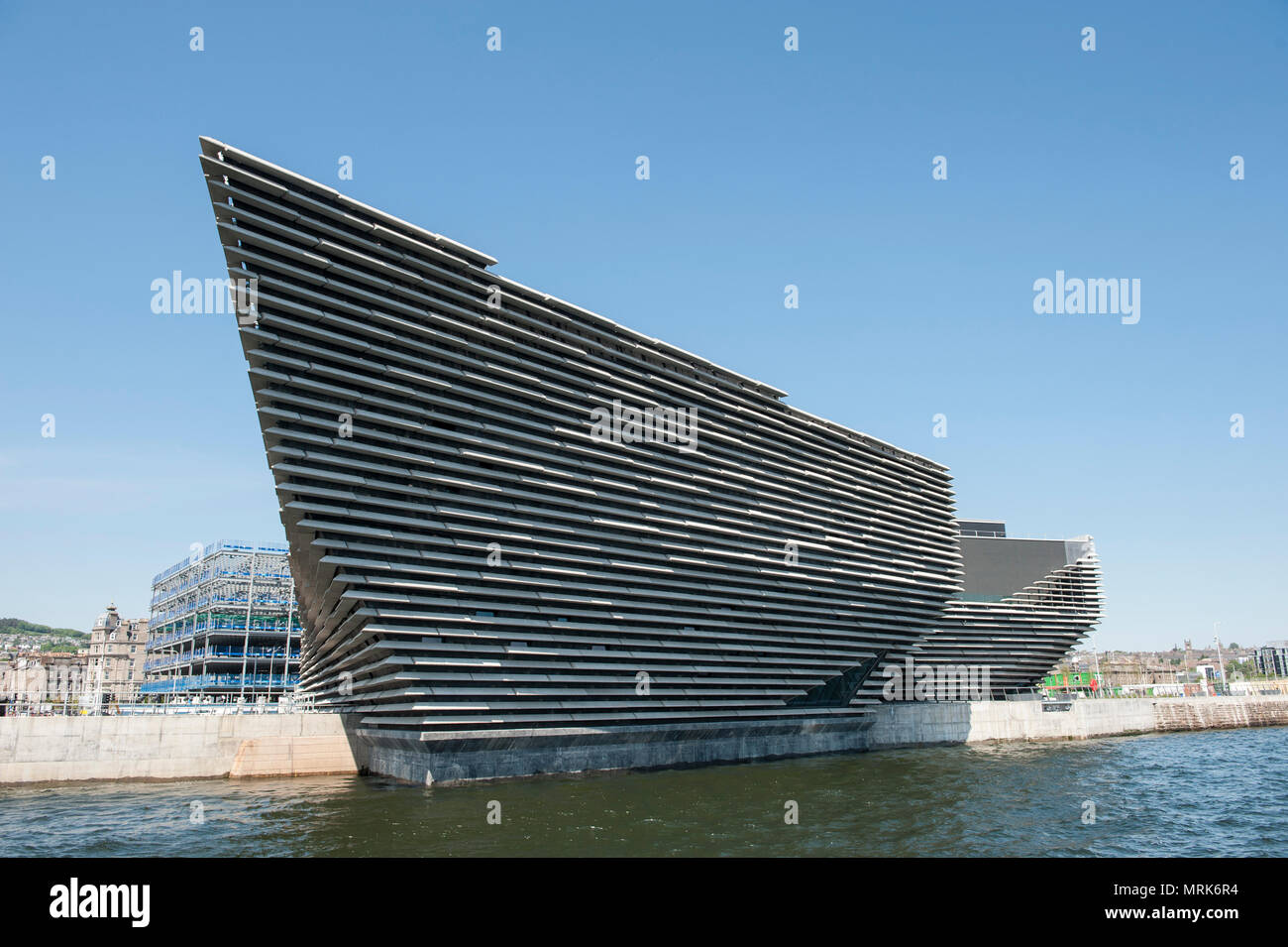 V&A Dundee from the river Tay - Stock Image